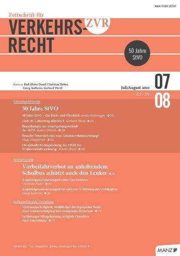 VERKEHRS- RECHT 08