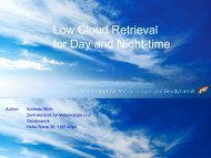 Low Cloud Retrieval for Day and Night-time ( , 1,13 MB)