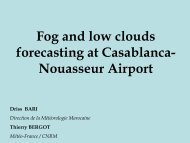 Fog and low clouds forecasting at Casablanca- Nouasseur ... - LCRS