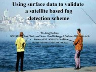 Using surface data to validate a satellite based fog detection ... - LCRS