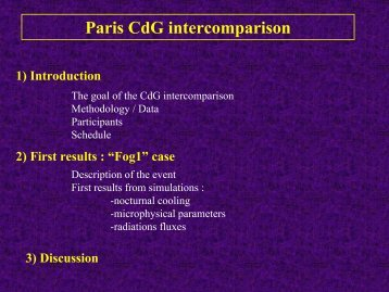 Paris CdG intercomparison - LCRS