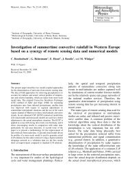 Investigation of summertime convective rainfall in Western ... - LCRS