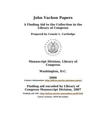 Albert Einstein Papers [finding aid]. Library of Congress. [PDF ...