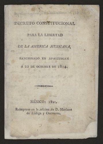 Decreto constitucional para la libertad de la America mexicana