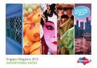 Singapur Magazine 2012 Advertising rAtes - Singapur Magazin 2012