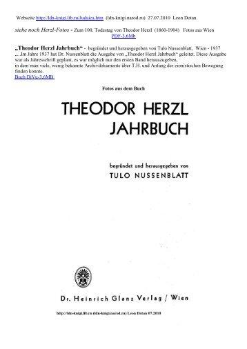 ?Theodor Herzl Jahrbuch? Wien, 1937