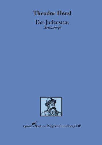 Herzl Theodor - Der Judenstaat
