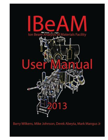IBeAM User Manual - LeRoy Eyring Center for Solid State Science ...