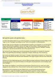 Prozessmanagement und Schnittstellen in ... - LearnAct!