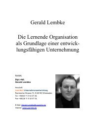 Gerald Lembke Die Lernende Organisation als ... - LearnAct!