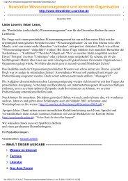 LearnAct!: Wissensmanagement Newsletter Dezember 2001