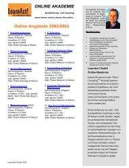 online akademie - LearnAct!