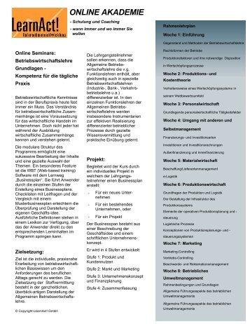 Betriebswirtschaftslehre - LearnAct!