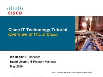 ITIL at Cisco - The Cisco Learning Network