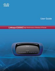 Linksys E3000 User Guide - The Cisco Learning Network