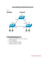 CCNA LAB 2 SWITCHING.pdf - The Cisco Learning Network