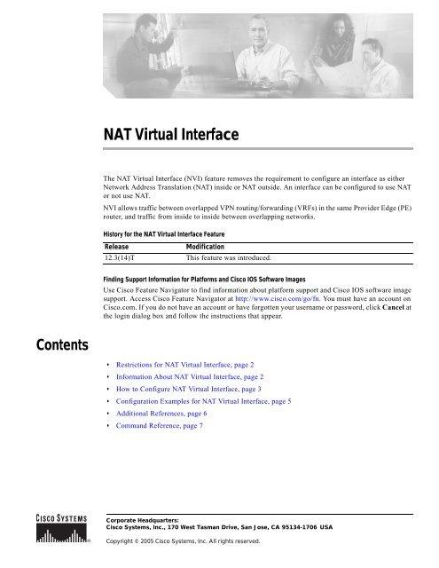 NAT Virtual Interface pdf - Cisco Learning Home