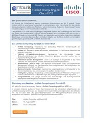 Unified Computing mit Cisco UCS - antauris AG