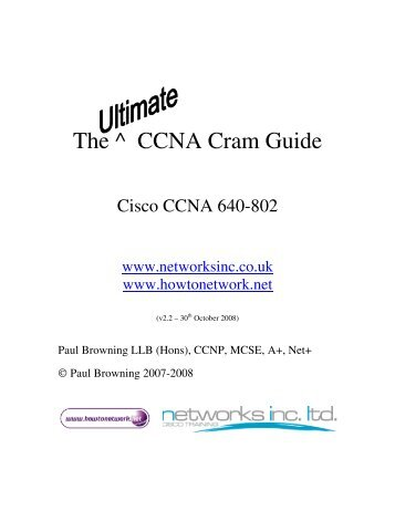 The ^ CCNA Cram Guide - The Cisco Learning Network