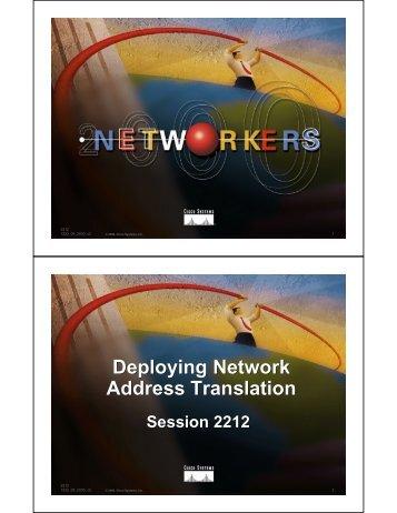 Deploying Network Address Translation Deploying Network Address ...