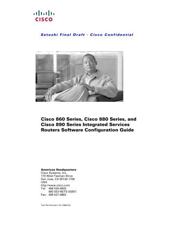 Cisco 860 Series, Cisco 880 Series, and Cisco 890 Series ...