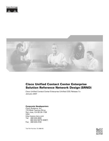 Cisco Unified Contact Center Enterprise Solution Reference ...