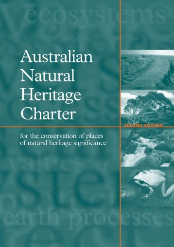Australian Natural Heritage Charter for the conservation of places of ...