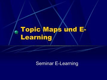 Topic Maps und E-Learning