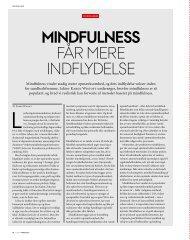 MINdFulNESS får mere indfLydeLse - Moksha