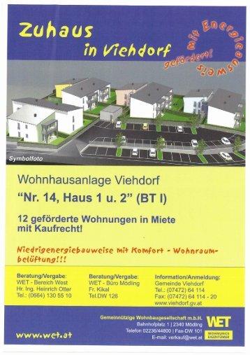 Wohnzuschuss Modell 2009 - Viehdorf