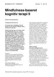 Mindfulness-baseret kognitiv terapi II - KognitivGruppen
