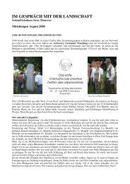 August 2008 - Lebensnetz-Geomantie