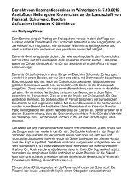Bericht Seminar 2012 - Lebensnetz-Geomantie