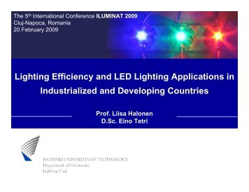Lighting Efficiency and LED Lighting Applications in Industrialized ...