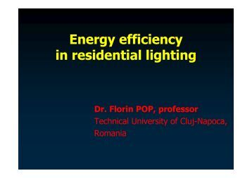 Energy efficiency in residential lighting - Lighting Engineering Center