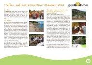 Treffen auf der Insel Brac, Kroatien 2013 - Lebensnetz-Geomantie