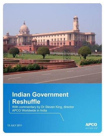 Indian Government Reshuffle - APCO Worldwide