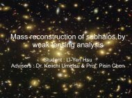 Mass reconstruction of subhalos by weak lensing analysis