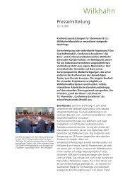 Pressemitteilung - Wilkhahn