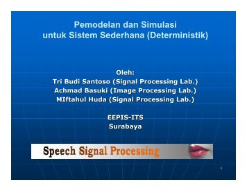 Bab 3 Sistem Deterministik - Lecturer EEPIS