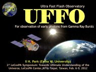 Ultra-Fast Flash Observatory (UFFO) for Early Photon ...