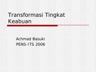 Transformasi Tingkat Keabuan - Lecturer EEPIS