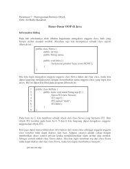 Pertemuan Java 7 - Lecturer EEPIS