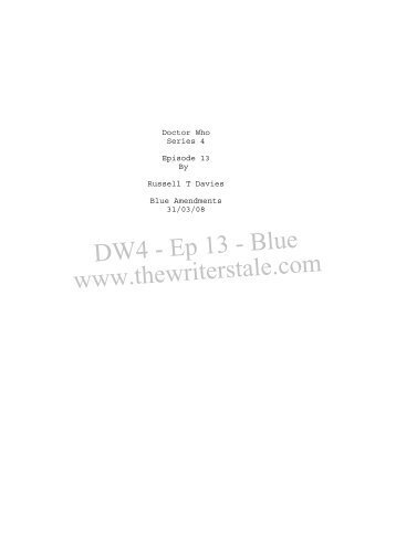 Doctor Who 4 Ep.13 - Shooting Script - Blue - 31.03 08.SCW