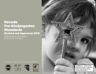Nevada Pre-Kindergarten Standards