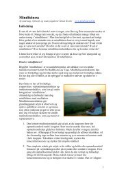 E-bog om Mindfulness - Dansk