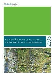 telefonrådgivning som metode til forebyggelse og sundhedsfremme