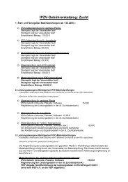 IPZV-Gebührenkatalog: Zucht
