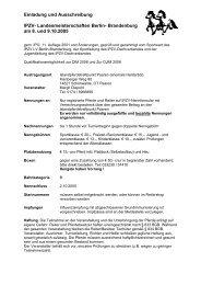 Landesmeisterschaften Berlin- Brandenburg am 8. und 9.10 ... - IPZV