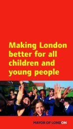 Making London better for all children and young people